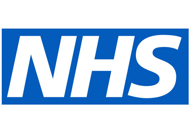 NHS Logo White on blue backgroung