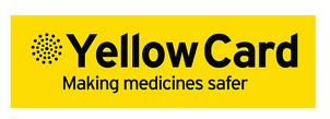 Yellow Card Logo of the  Medicines and Healthcare Regulatory Agency